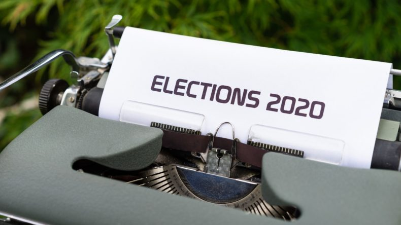 photo of text saying elections 2020