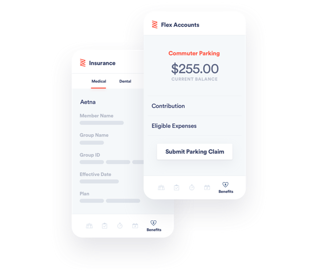 Zenefits mobile benefits administration app.